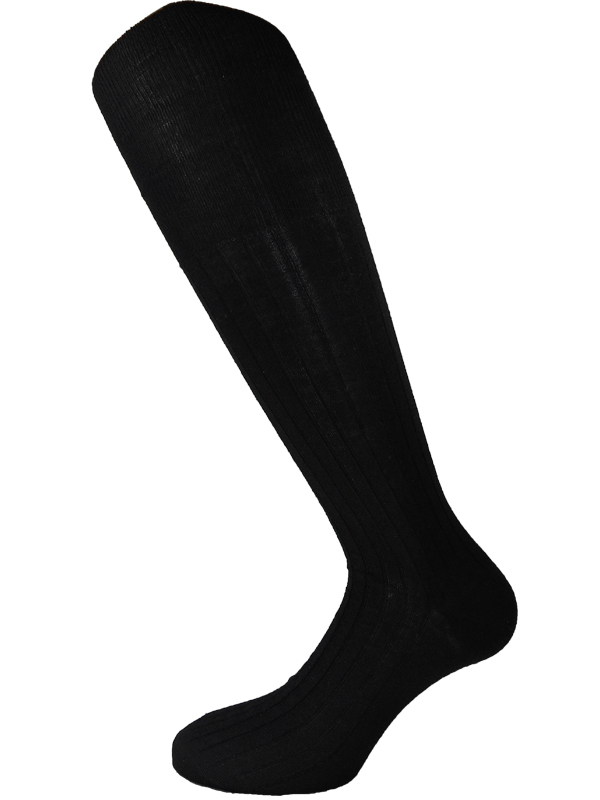 wool silk mens knee high socks